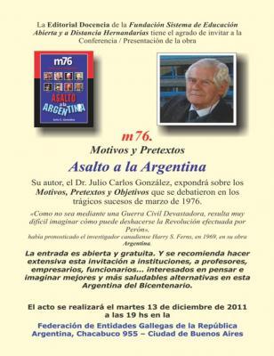 "PRESENTACION DE LIBRO ""ASALTO A LA ARGENTINA"""