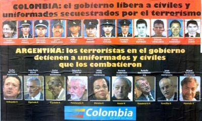 AFICHE COLOMBIANO SOBRE ARGENTINA KK