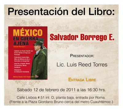 PRESENTACION DEL LIBRO DE SALVADOR BORREGO