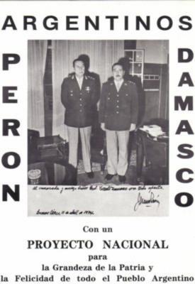 CORONEL VICENTE DAMASCO: MENSAJE AL PUEBLO ARGENTINO