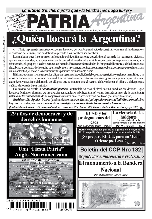 PATRIA ARGENTINA Nº 294